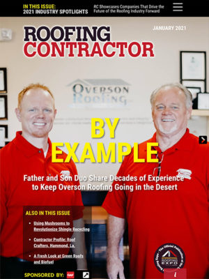 Roofing Contractor January 2021 Cover
