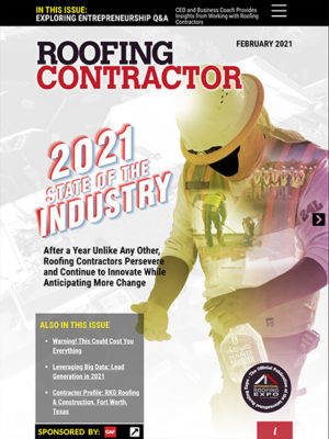 Roofing Contractor February 2021 Cover