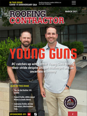 Roofing Contractor March 2021 Cover