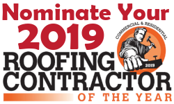 Nominate your roofing contractor of the year