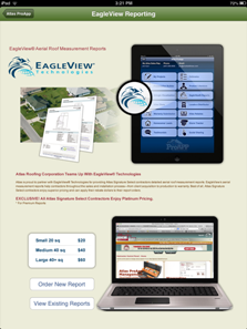 Atlas Signature Select EagleView roof measurements