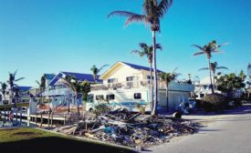 Hurricane roof damage