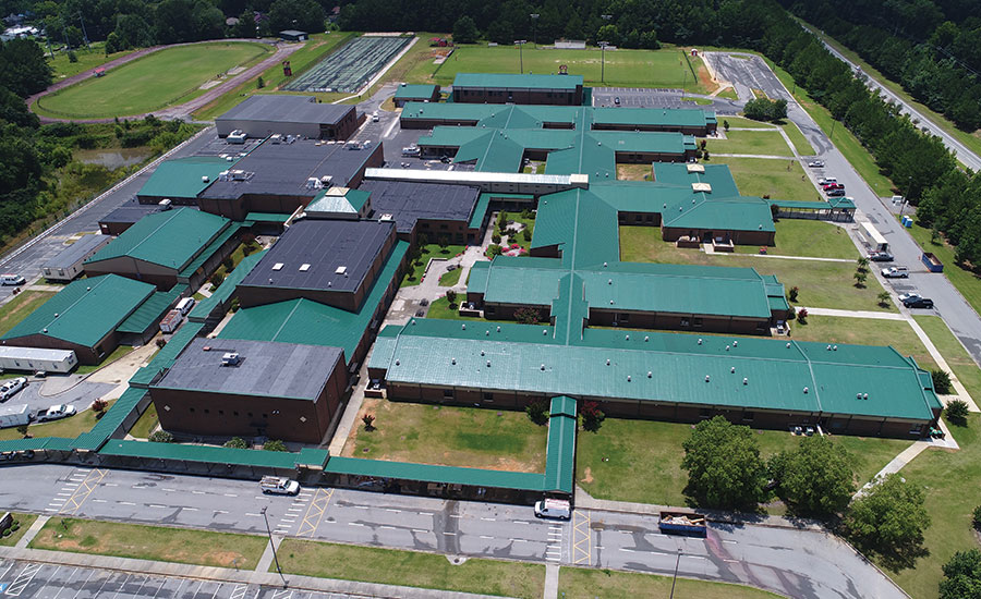 Case Study Reroofing At Georgia Schools Completed As