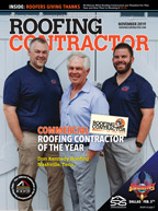 Roofing Contractor Cover 2019 November