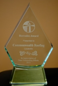Commonwealth Roofing Hercules Award