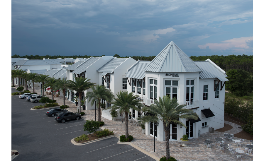 Intricate Roof Meets Refined Design of Coastal Florida Lifestyle Complex