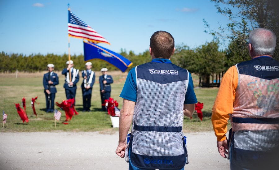 Cardinal roofing southeastern metals honor u s military for Fish hawk sporting clays