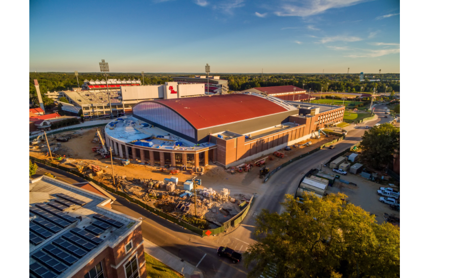 New Ole Miss Basketball Arena, The Pavilion, Displays Signature Curved Roof