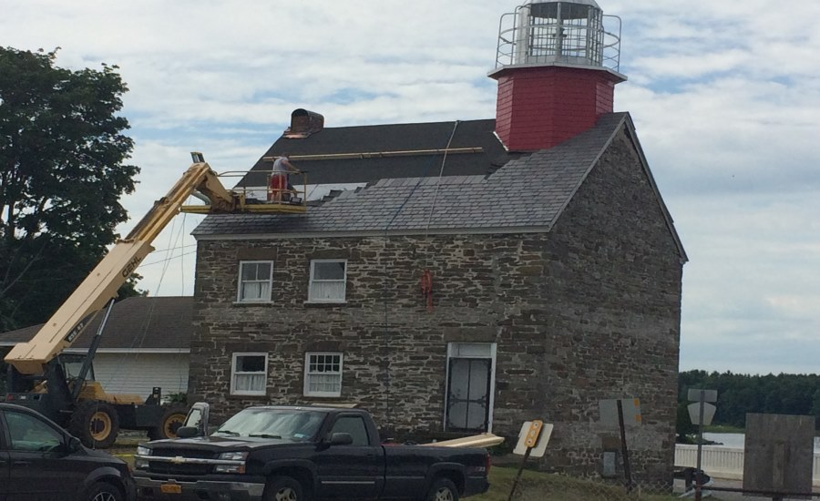 Historic Selkirk Lighthouse Gets Durable New Roof 2016
