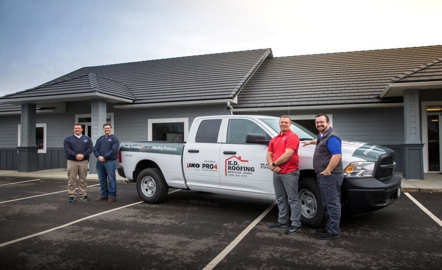 IKO Awards Idaho Contractor For PRO4 Plus Roofing Components System  Promotion