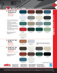 New standard color offerings 2012 03 27 roofing contractor