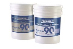 Polyglass silicone roof coatings