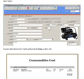 Dynamic tool and equipment software