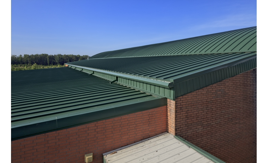 Onsite Fabrication New Metal Roof Created And Installed