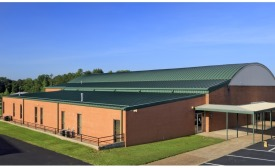 Greers Ferry High School metal roof
