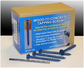 Wood To Concrete Screw 2013 11 15 Roofing Contractor