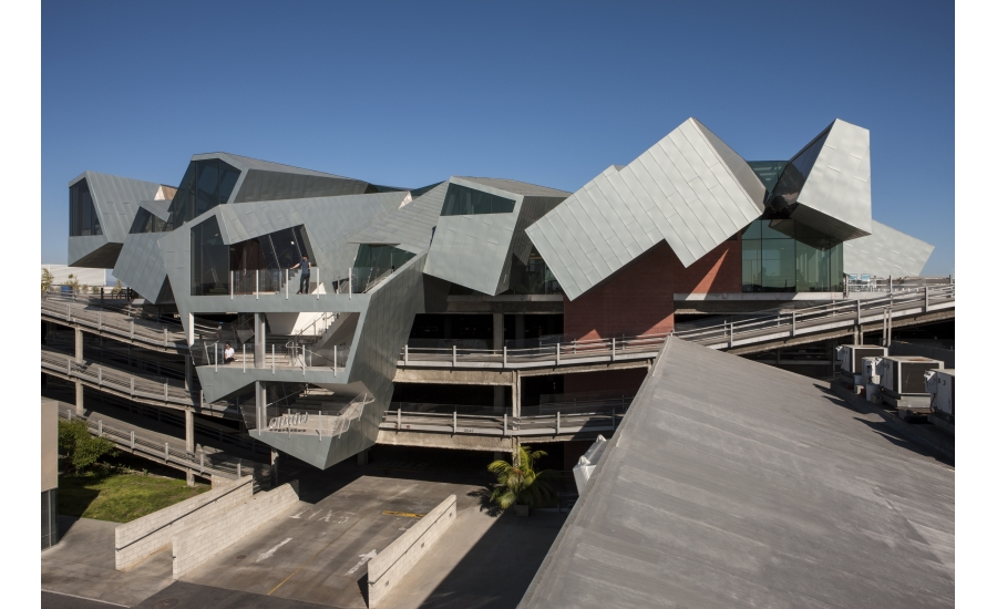 The Pterodactyl Soars Futuristic Office Building Flaunts