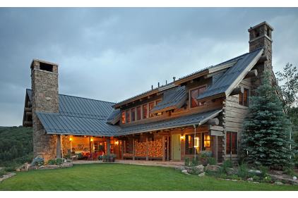 Grand Junction Log Cabin with RHEINZINK panels