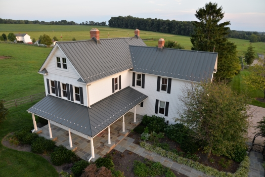 Old world charm new metal roof and detailing highlight for Farmhouse metal roof