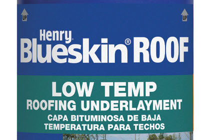 Low Temp Roofing Underlayment feature