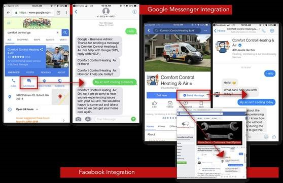 HomeServiceChats - Messenger Screens
