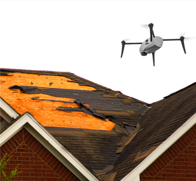 Kespry-drone-damaged-roof