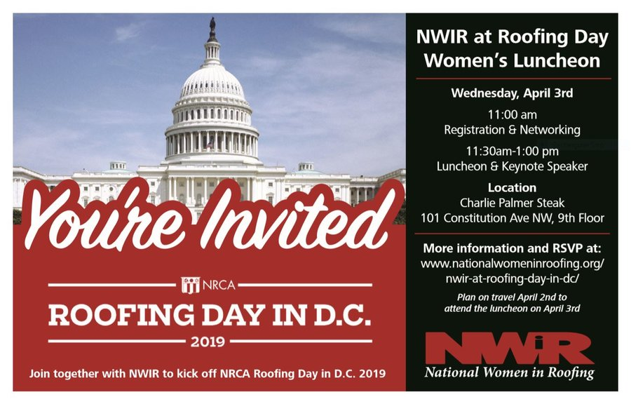 NWIR Roofing Day Luncheon 2019