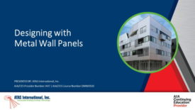 Designing with Metal Wall Panels