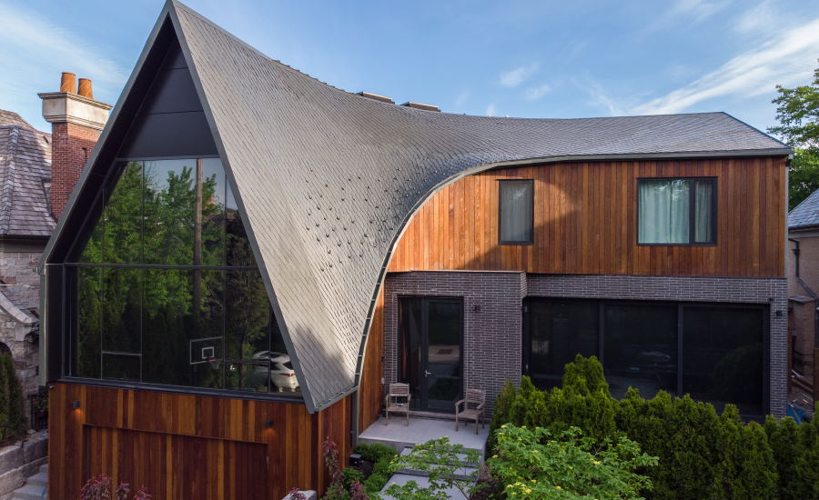 Project Profile A House Creates Dragon Scale Roof Design With Rheinzink Zinc Panels 2020 09 09 Roofing Contractor