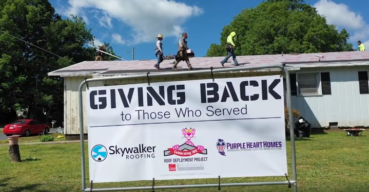 Skywalker Roofing May Vet Donation