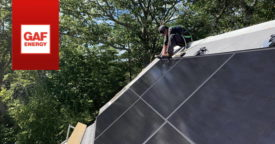 Solar roof massachusetts GAF Energy