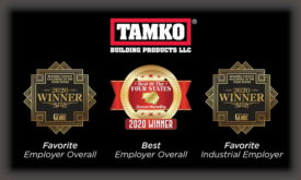 TAMKO 2020 Top Employer Awards