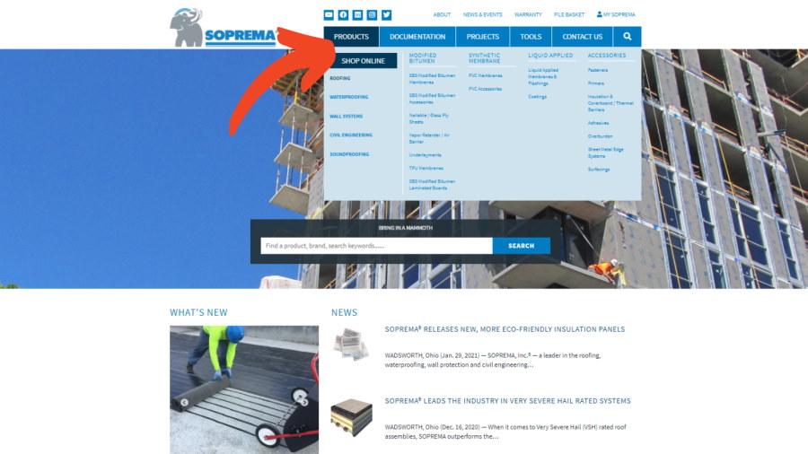 SOPREMA-e-commerce