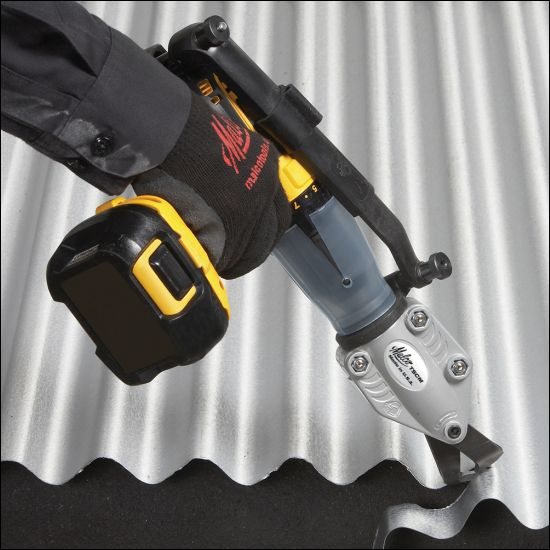 TurboShear® – Corrugated Metal Cutting Drill Attachment